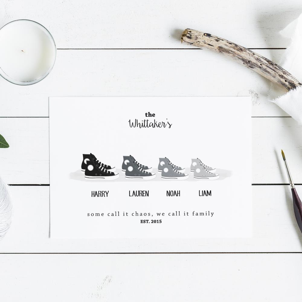 Shoe Family Print