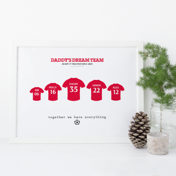 Dad's Dream Team Football Print