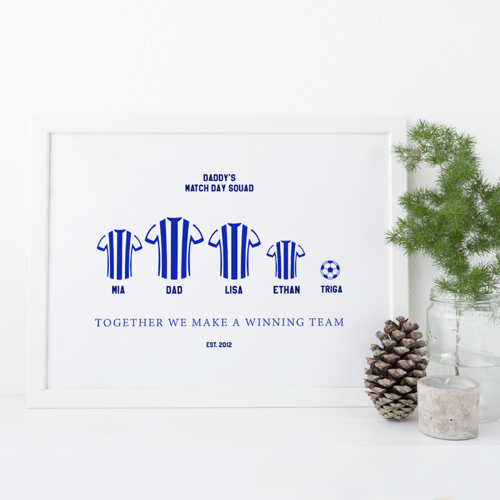 Daddy's Match Day Squad Football Print