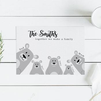 Bear Family Print