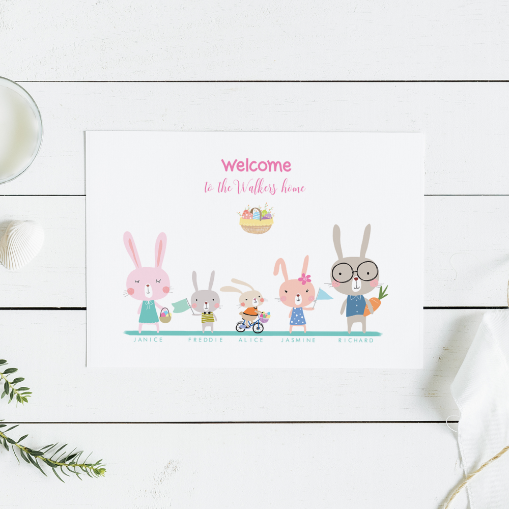 Rabbit Family Print