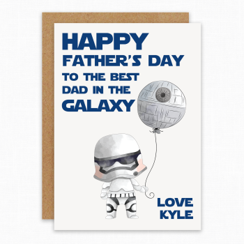 The Best Dad in the Galaxy card