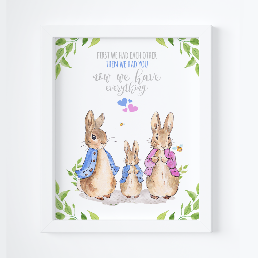 First We Each Other Peter Rabbit Print