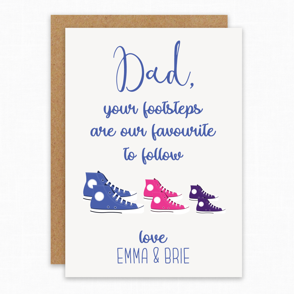 Daddy Footprints card
