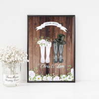 Wedding Couple Welly Print