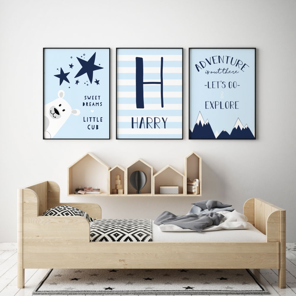 Bear Cub Adventure Nursery Prints