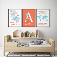 Oh the places you will go Orange prints