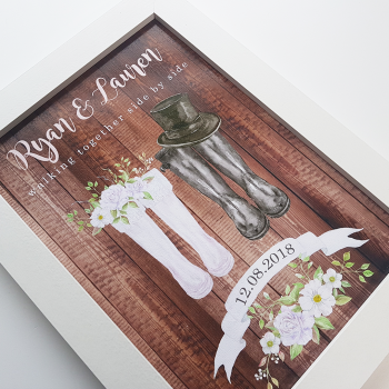 Wedding Couple Mr and Mrs Welly Print
