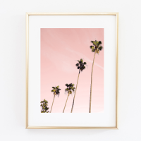 Coconut Tree Pastel print