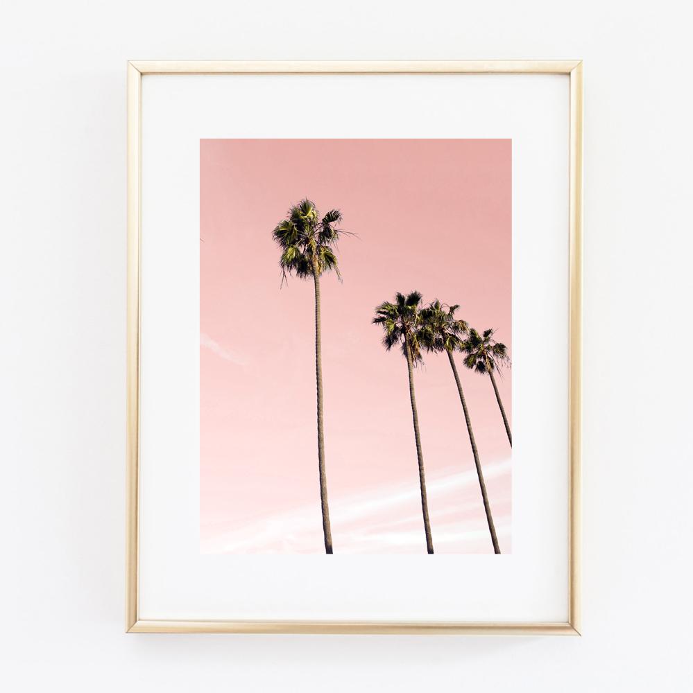 Coconut Tree Pastel print