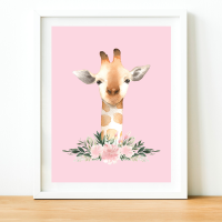 Giraffe Watercolour print