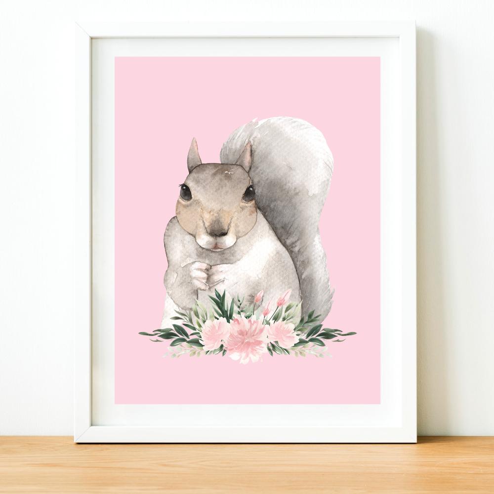 Squirrel Watercolour print