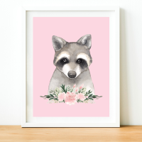 Raccoon Watercolour print