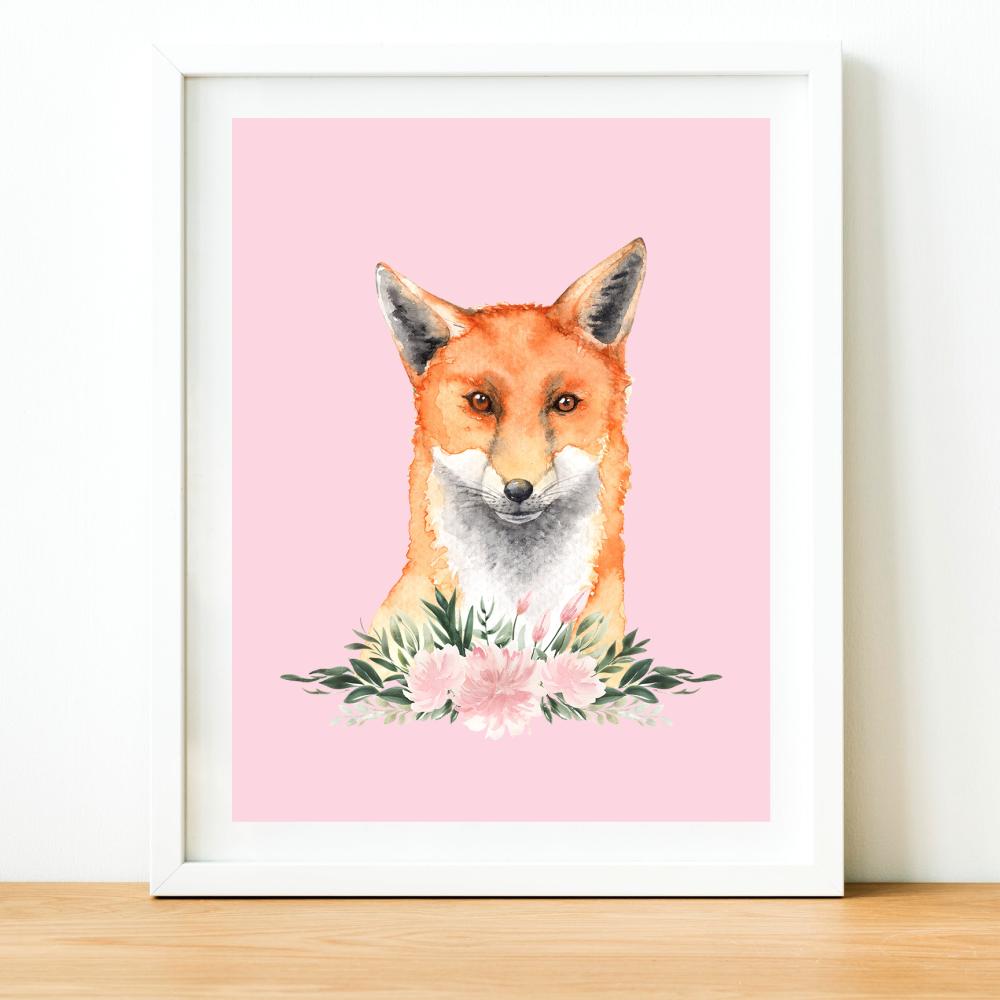 Fox Watercolour print