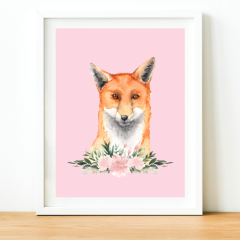 Fox Watercolour print
