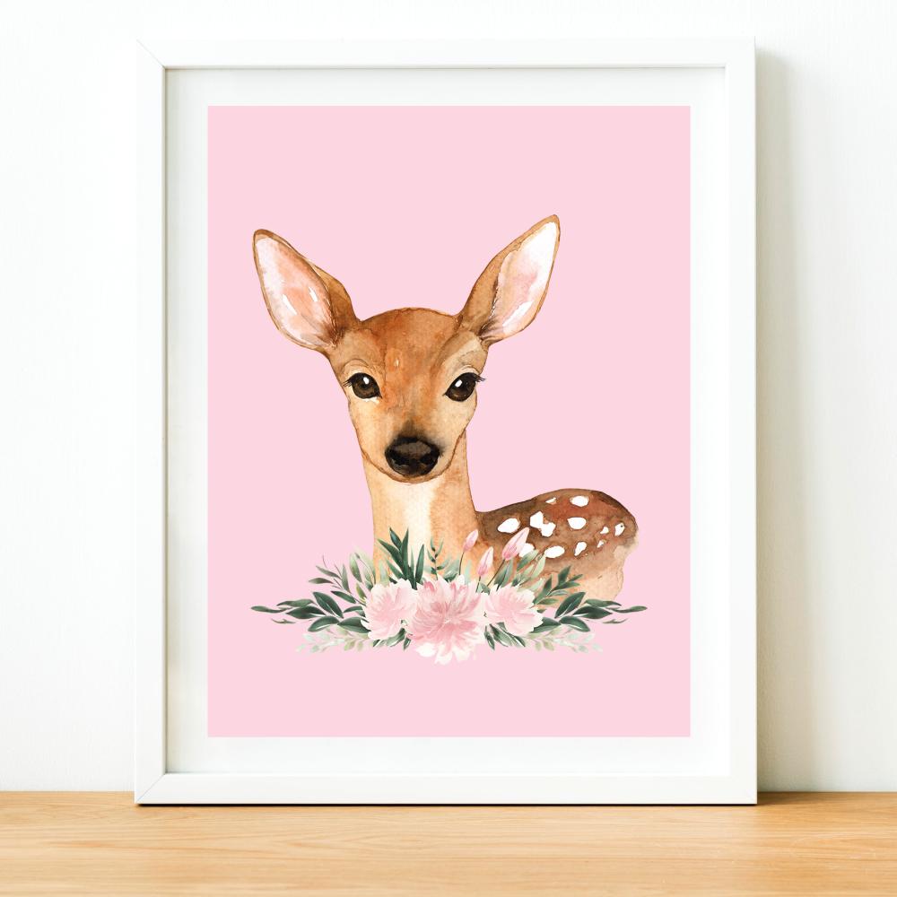 Deer Watercolour print