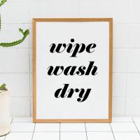 Wipe wash dry print