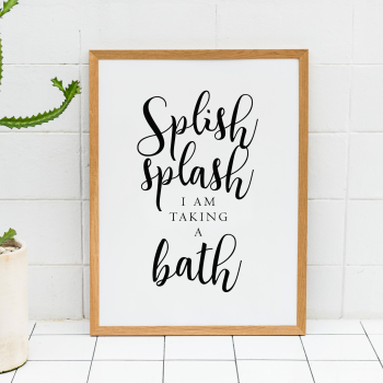 Splish Splash Bathroom Print