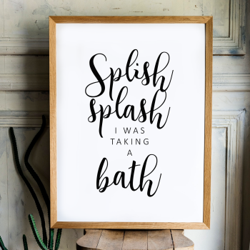 Splish Splash Print