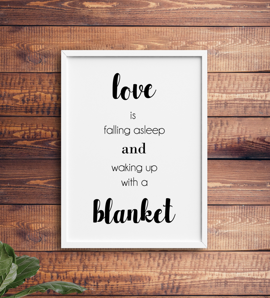 Love is a blanket