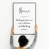 Home is the story print