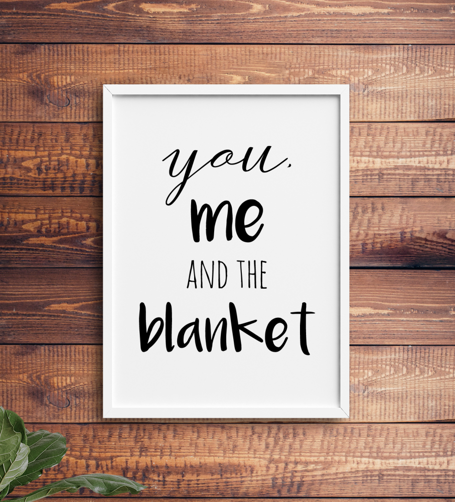 You me and the blanket Print