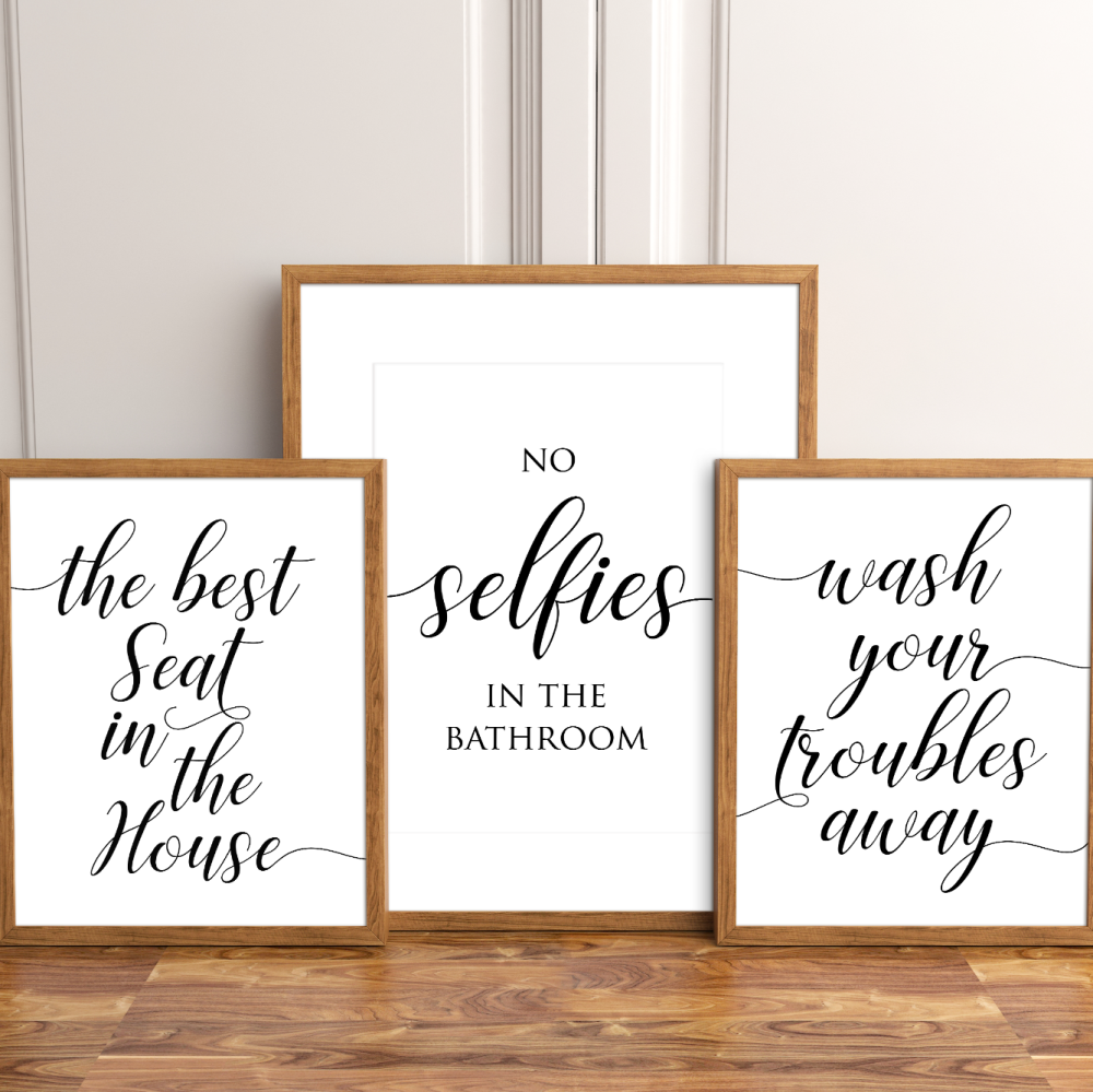 3pc Bathroom Print Set
