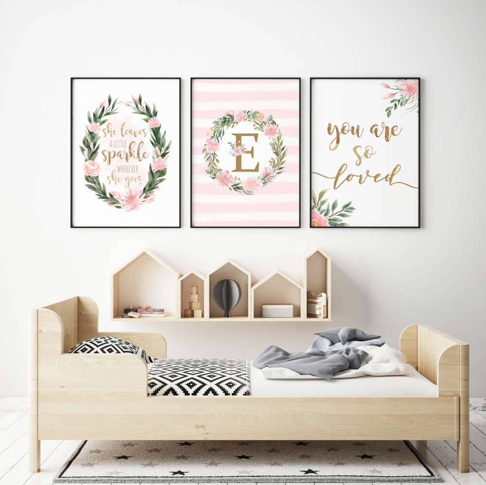 Floral Nursery 3pc Print set