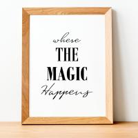 Where the magic happens Print