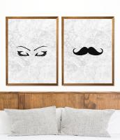 Eyebrow and Moustache prints