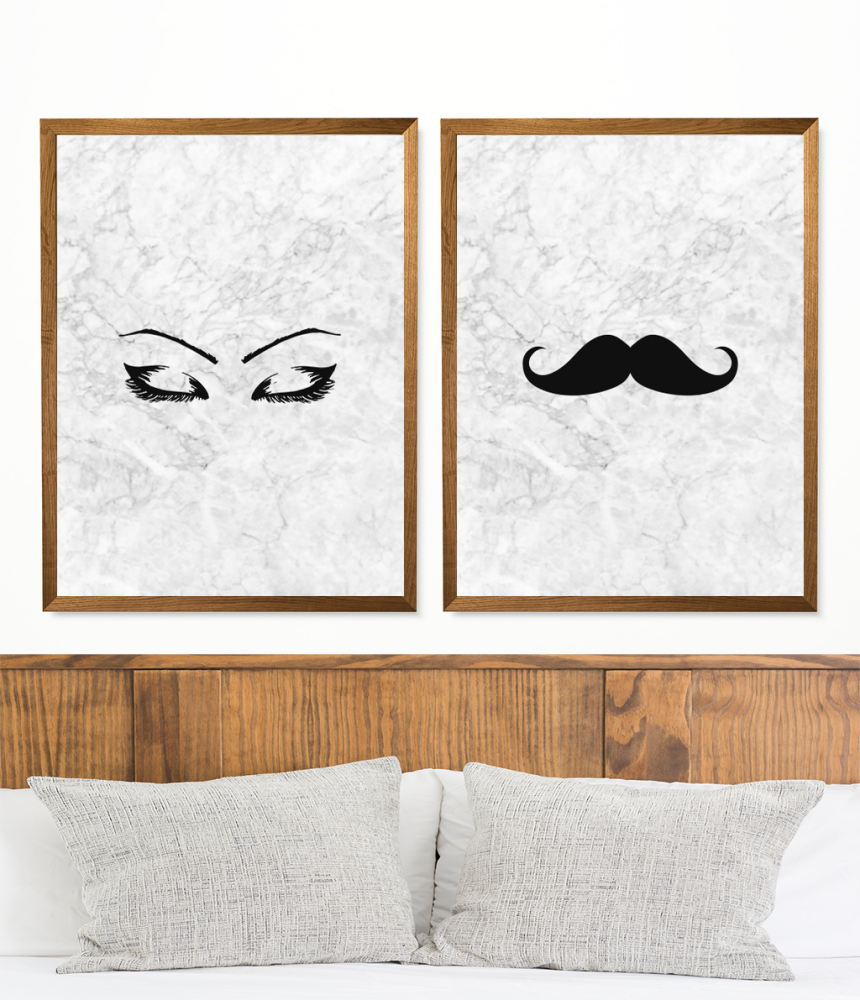 Eyebrow and Moustache prints