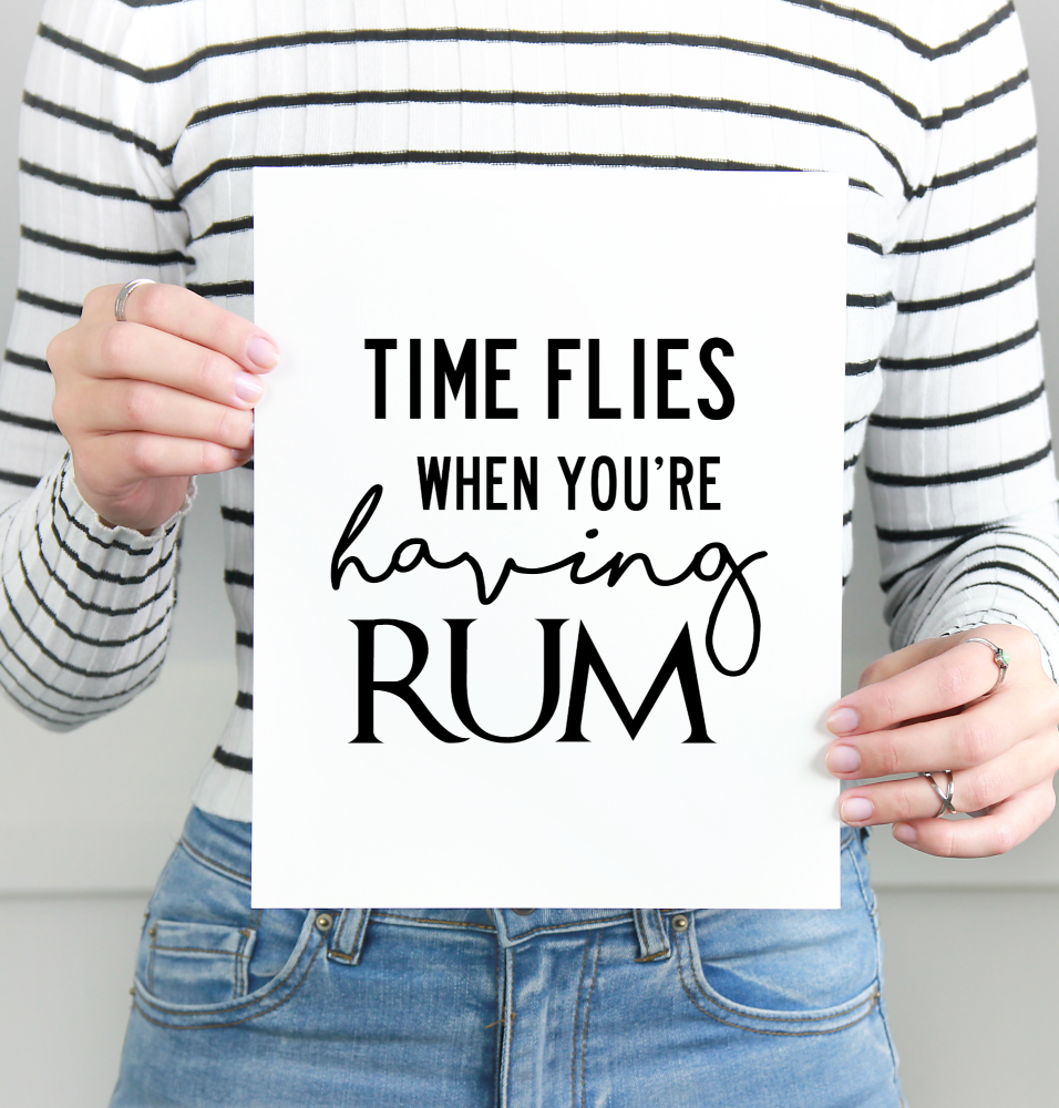 Time Flies print
