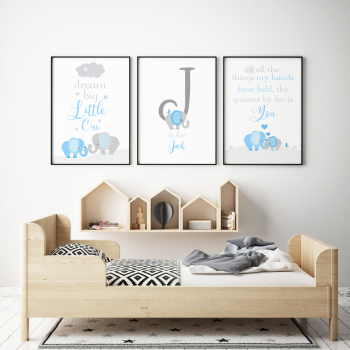 Dream Big Little One Grey Blue Set
