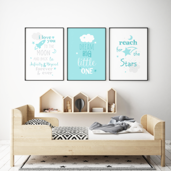 Dream Big Little One Teal Set