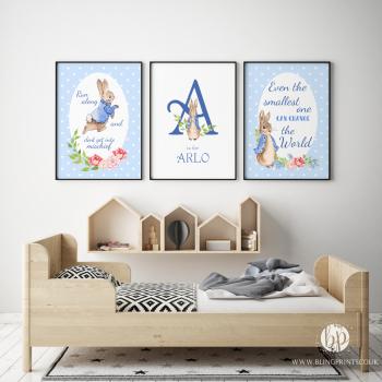 Set of 3 Peter Rabbit Nursery Prints
