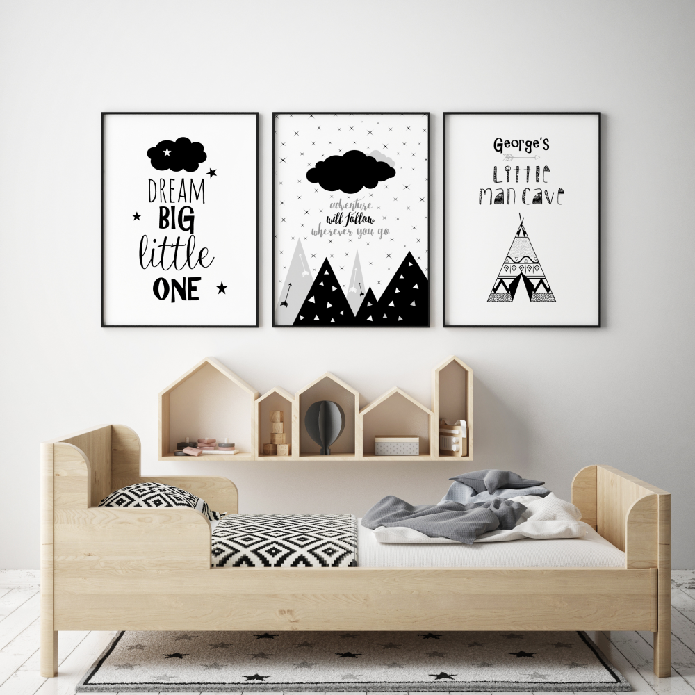 Set of 3 Tribal Adventure Nursery Prints