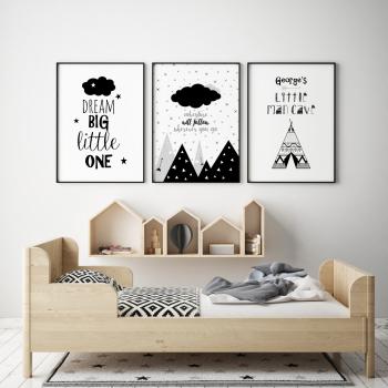 Set of 3 Tribal Adventure Nursery Prints