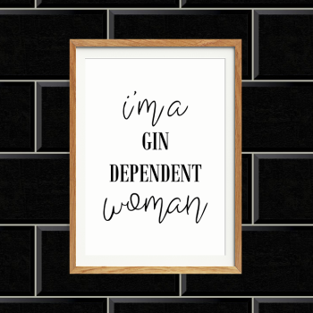 Gindependant Woman Print