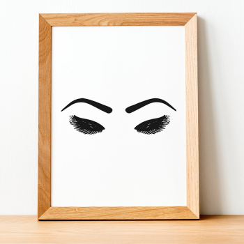 Eyebrows and Lash Print