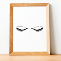 Closed Eyelash Print