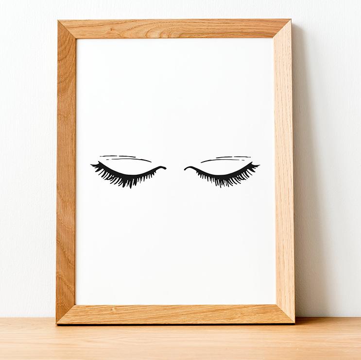 Closed Eyelash Print