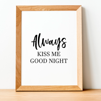 Always Kiss Print