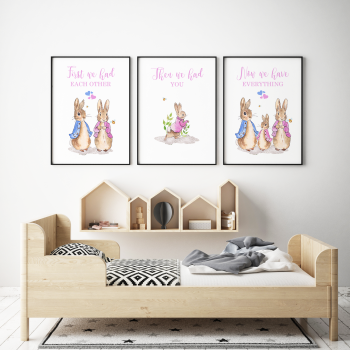 Set of 3 First We Had Each other Peter Rabbit Nursery Prints