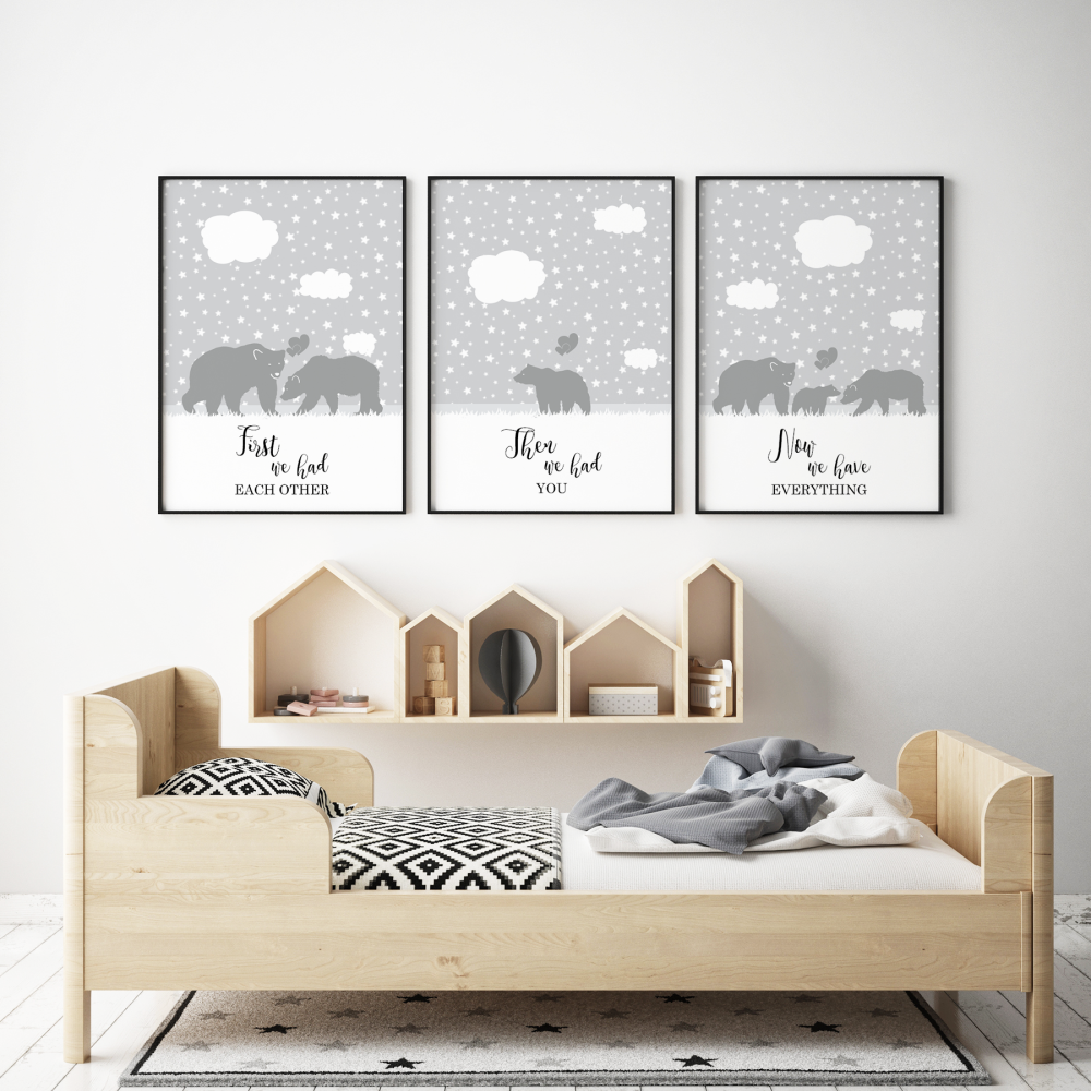 Set of 3 First We Had Each other Bears Prints