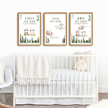 Sloth Nursery Print Set