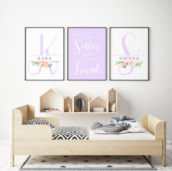 Twin Girls Nursery Prints