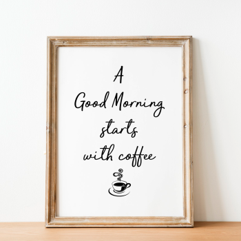 A good morning stars with coffee Print