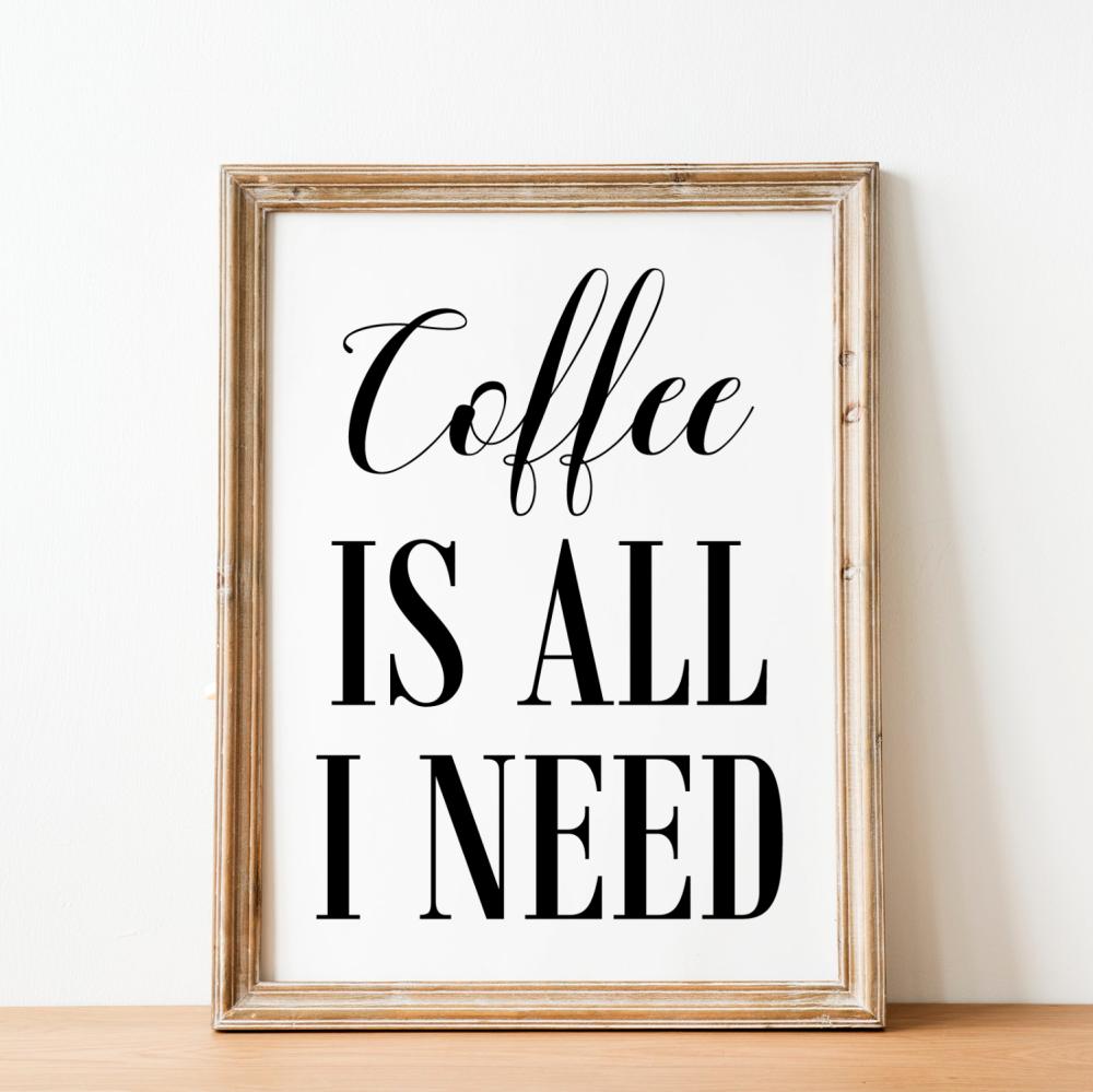 Coffee is all I need Print