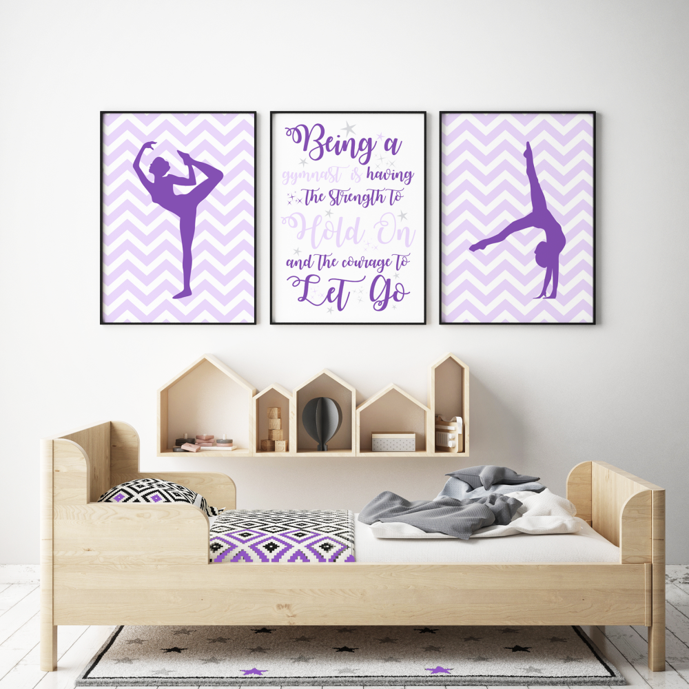 3pc Girls Gymnastic Prints