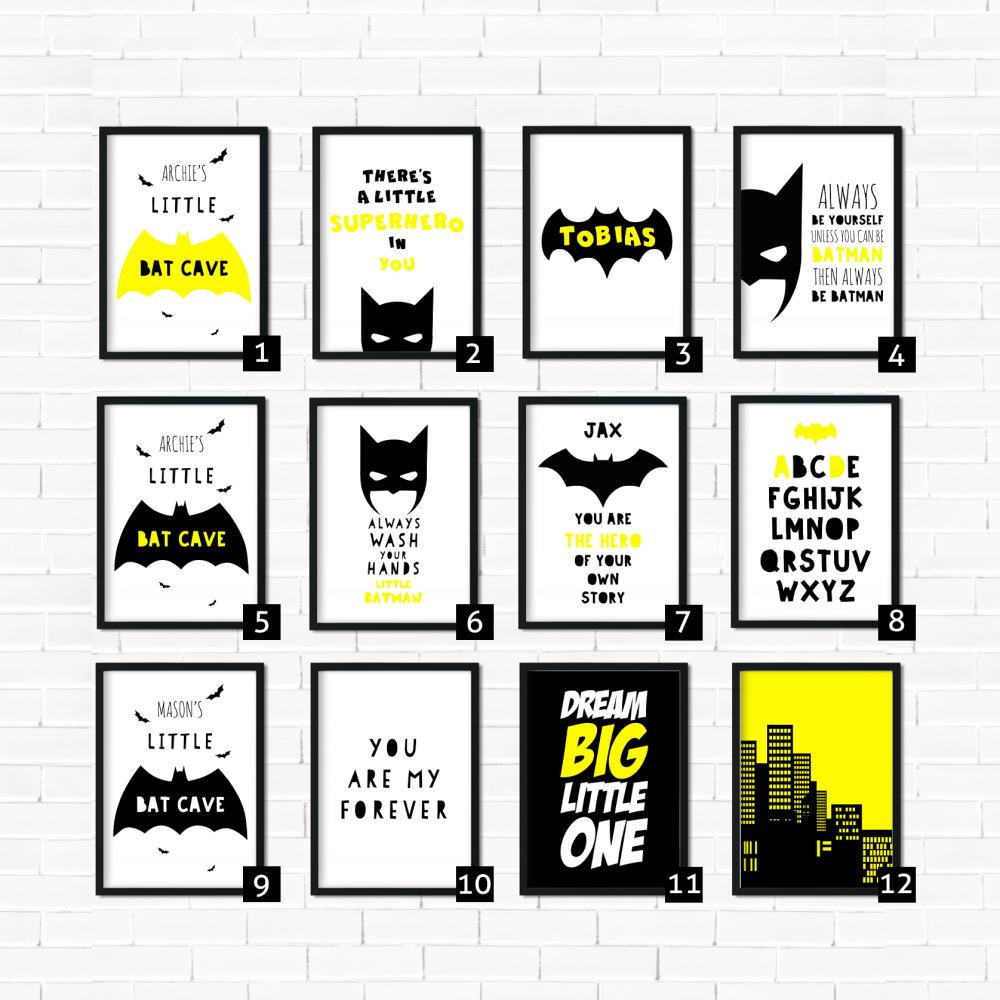 Superhero Print Sets